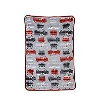 Gerber Baby Boys 4 Pack Flannel Receiving Blanket, Firetrucks, One Size