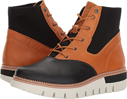 - Caterpillar Women's Knockout Leather Lace up Fashion Ankle Boot, Black/Tan, 9.5 Medium US