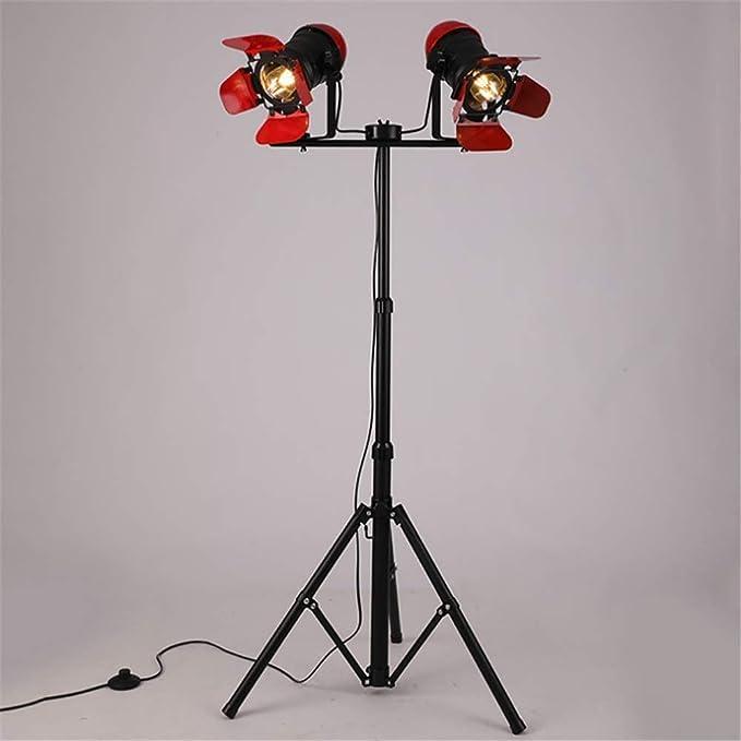 Lámpara de pie reflector retro Industrial altura ajustable que se ...