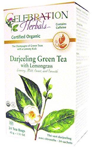 Celebration Herbals Green Tea Darjeeling Lemongrass Bags by Celebration Herbals