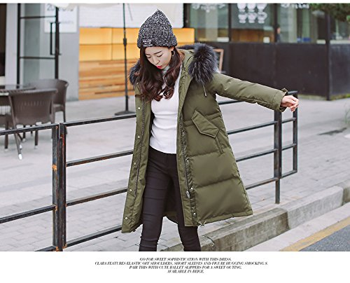 Generic Special-season Korean new long section thick winter jacket female loose waist was thin oversized fur collar coat for women girl by Generic (Image #7)