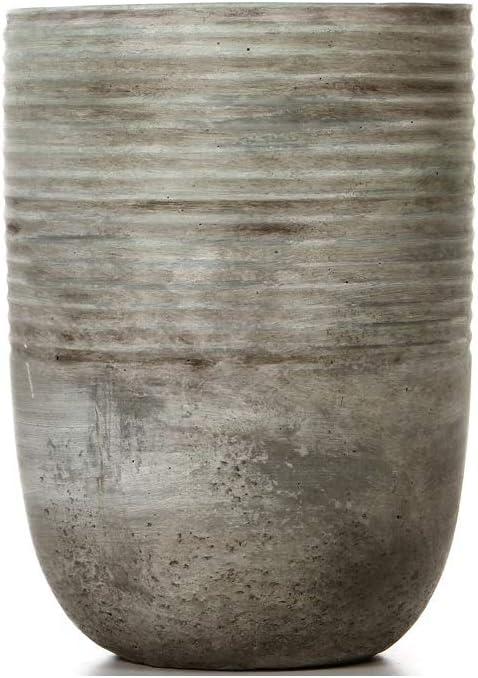Hosley Ceramic Mid Century Modern Grey Design Planter-7.5