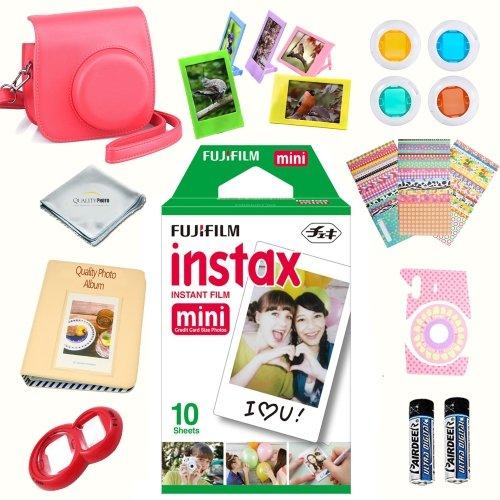 Fujifilm instax mini 8 accessories KIT RASPBERRY includes -