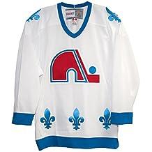 Quebec Nordiques White 1991-95 Vintage CCM Jersey (XL)