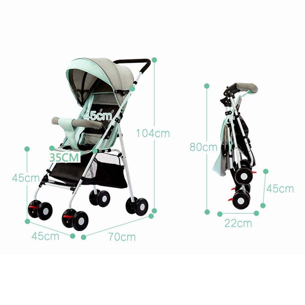 OCYE Stand-On Tandem Stroller/Standing/Sitting Double Stroller/Double Jogger, Lightweight Three-Speed Adjustable Awning Oversized Storage Basket Pedal, Gray by OCYE (Image #5)