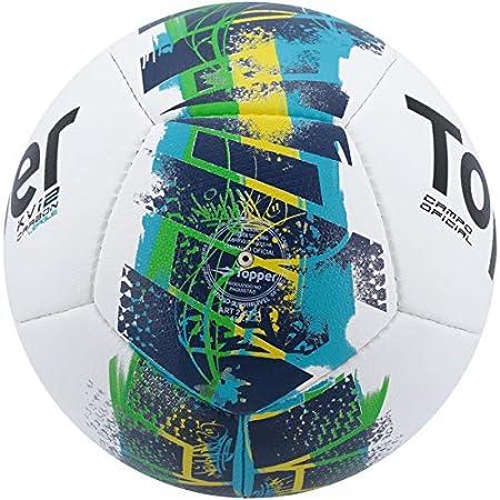 Bola de Futebol de Campo Topper KV Carbon League Branco 8449   Amazon.com.br  Esportes e Aventura d9aede579168f