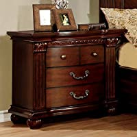Furniture of America CM7736N Grandom Cherry Nightstand