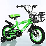 LinRin muma BMX Freestyle Kids Bikes, 12 inch, 14 inch, 16 inch, in 4 colors, Boy's Bikes and Girl's Bikes with training wheels, Gifts for children