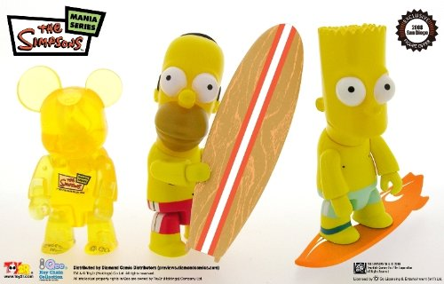 Simpsons Qee Figure Set SDCC Exclusive (Qee Set)