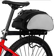 Rear Seat Rack Bike Bag Black Bike Trunk Bag Waterproof Bicycle Panniers, Multi-Functional Bike Accessories Ha
