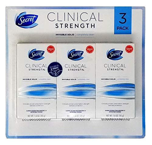Secret Clinical Strength Invisible Solid Deodorant (1.6 oz., 3 pk.) (Mark Martin Shirt)