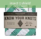 Survival Bandana Treated with Insect Shield Bug Repellent   Knot Tying Instruction Guide Print, White, 100% Cotton, Made in The USA
