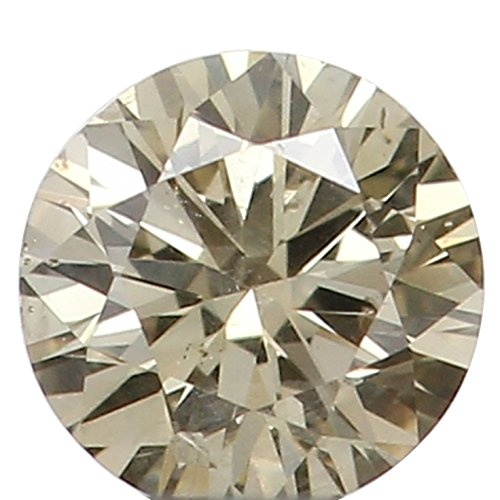 Narshiha Natural Loose Diamond Round Brown Color SI2 Clarity 2.70X1.70 MM 0.075 Ct N6412