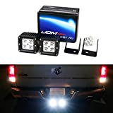 iJDMTOY Tow Hitch Mount 40W High Power CREE LED Reverse Lights, Off-Road Rear Search Lighting For 2003-up Dodge RAM 1500 (w/ Switch & Wiring Harness)
