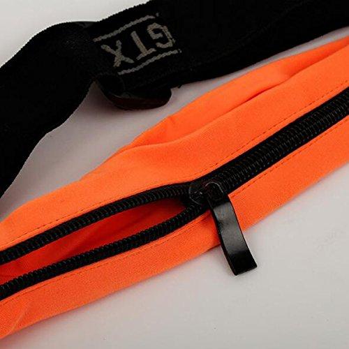 fendii–Cinturón Cremallera Bolsa de cintura, ejercicio al aire libre Runner cinturón, bolsa de entrenamiento, dinero riñonera para hombres y mujeres y para senderismo, ciclismo, Jogging, negro naranja
