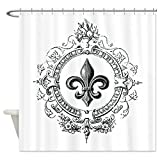 LovingIn Vintage French Fleur de lis Shower Curtain - Standard White