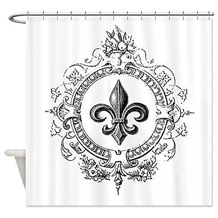 LovingIn Vintage French Fleur De Lis Shower Curtain