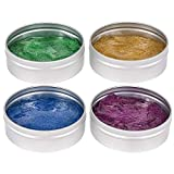 Kicko Glitter Putty in Tin Can - Colorful Toys for Kids - 3 Inch Container - Gentle on Skin, Slime - 4 Pack - Gift Ideas, Party Favors