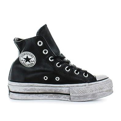 24a247069b06a Converse Chaussures Femme Baskets All Star Platform Cuir Noir Femme  Automne-Hiver 2019  Amazon.fr  Chaussures et Sacs