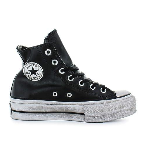 Zapatos de Mujer Zapatilla Converse All Star Platform Cuero Negro Mujer Otoño Invierno 2019: Amazon.es: Zapatos y complementos