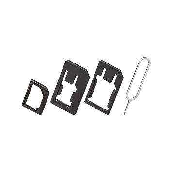 Goobay 40805 SIM Card Adapter Adaptador para Tarjeta de Memoria sim/Flash - Adaptador para Tarjetas de Memoria (3 Pieza(s), Bolsa de plástico)