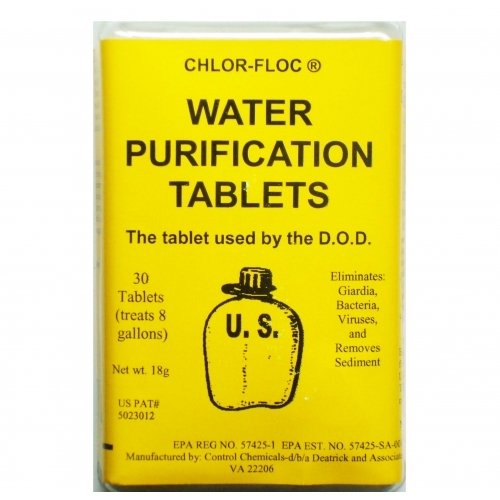 7741 G.I. Issue Water Purification Packets - 2 Boxes - 60 Packets -