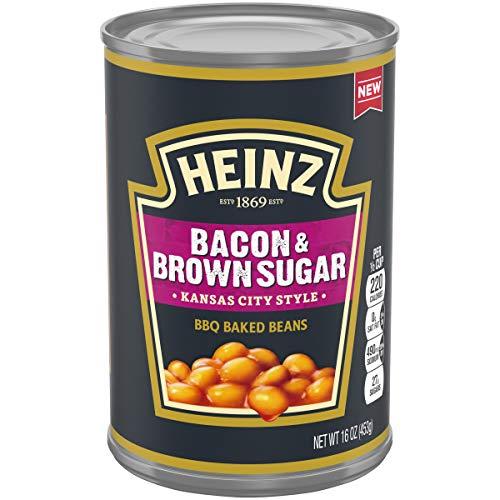Heinz Kansas City Style Bacon & Brown Sugar BBQ Baked Beans, 16 oz Can