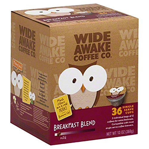 Wide Awake Coffee Breakfast Blend K-Cups 36 Count