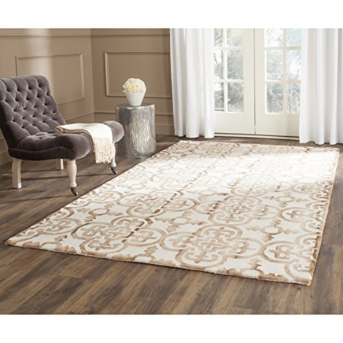 Safavieh Dip Dye Collection DDY711E Handmade Moroccan Geometric Watercolor Ivory and Camel Wool Area Rug (5' x 8')