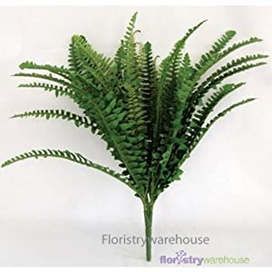 FloristryWarehouse Artificial Plant Boston Fern 21 inches 34