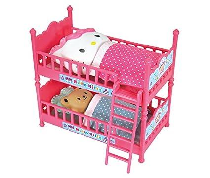 Amazon.com: Hello Kitty litera cama doble con cojines ...