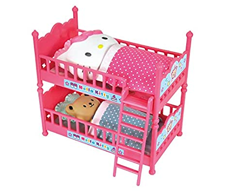 Amazon Com Hello Kitty Double Bunk Bed With Cushions Futons And