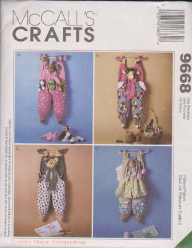- McCall's 9668 Crafts Sewing Pattern Hanging Bag Holders