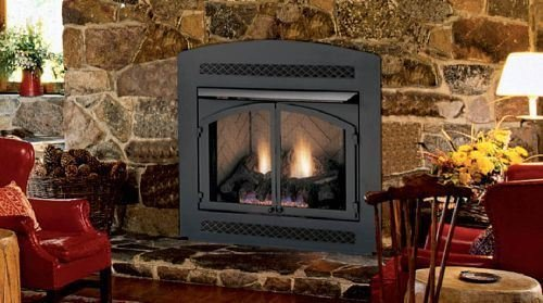 Monessen Mcuf36d-r Magnum Series 36-inch Radiant Face Circulating Vent-free Firebox With Refractory Firebrick (Face Fireplace Gas)