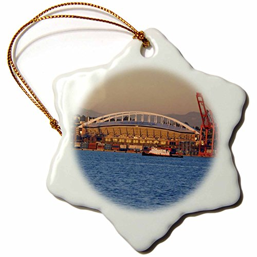 3drose-llc-orn-95911-1-porcelain-snowflake-ornament-3-inch-wa-seattle-qwest-field-and-elliott-bay-ja