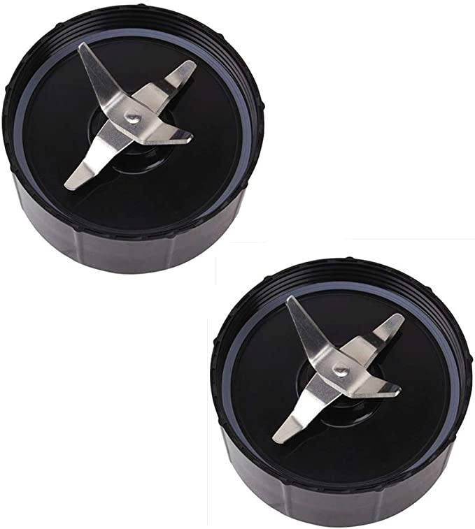 Spare Replacement Parts for Magic Bullet Blender Model MB1001 Pack of Cross Blade and Ice Shaver Blade Juicer and Mixer