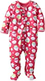 Little Me Baby Girls' Cupcake Zip Front Footie