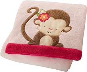 Kids Line Baby Boa Blanket, Miss Monkey (Discontinued by Manufacturer)