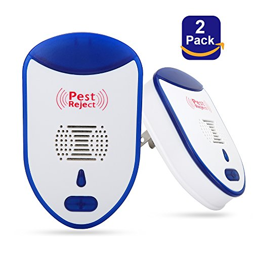 - totobay Ultrasonic Pest Repeller, [2018] Newest Electronic Insect Repellent  2 Pack Indoor Plug-In Repellent to Reject Rodent Bed Bug Mosquito Fly Cockroach Spider Rat Home Animal No Kill (2 PACK)
