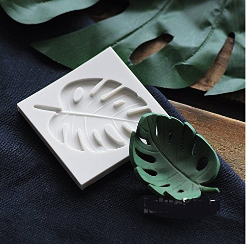 Astra Gourmet Tropical Leaf Silicone Fondant Mold Candy Chocolate Molds For Sugar Craft Gum Paste Cake Decorating