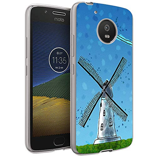 Crystal Clear Pinwheel - Moto G5 Case,Windmill Case for Moto G5,Pinwheel Pattern Design Crystal Clear Protective Case