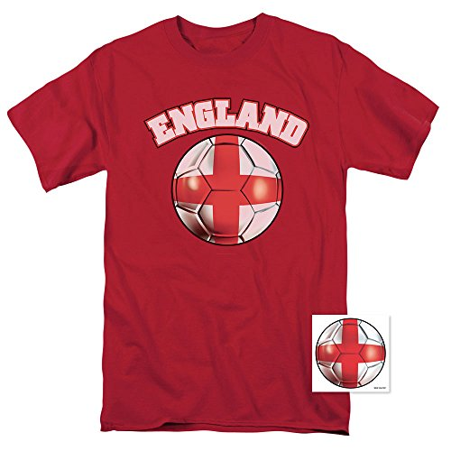 Popfunk England World Cup Soccer T Shirts & Exclusive Stickers (X-Large)