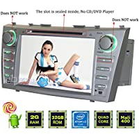 JOYING for 2007 2008 2009 2010 2011 Toyota Camry 8 2GB RAM Android System Car Stereo Double Din Head Unit Indash GPS Radio Autoradio WiFi Bluetooth Hands-free Calling and BT Music
