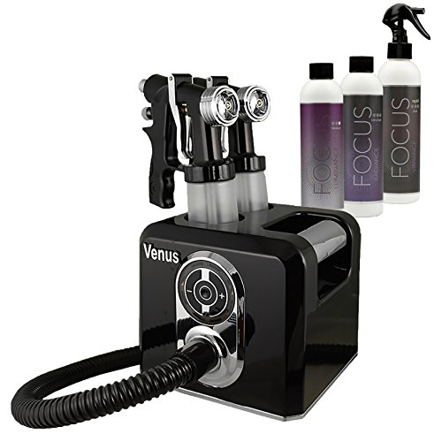 Venus Spray Tanning Machine Kit with Sunless Airbrush Tanning Solution (Black) (Roman Goddess Makeup)