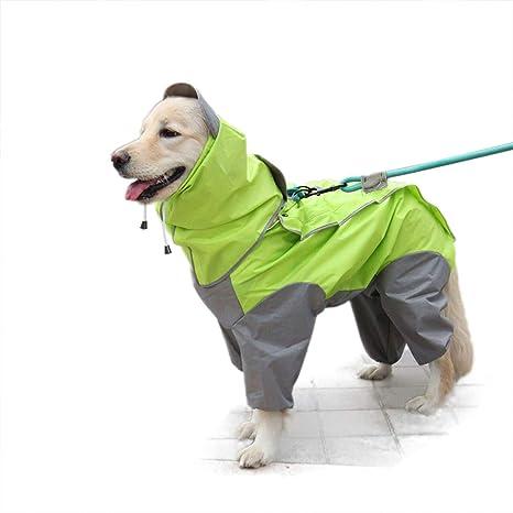 feiling Patchwork Lluvia Abrigo para Perro Perros Chubasquero Impermeable 4 Patas de Lluvia Chaqueta Mascotas Rain