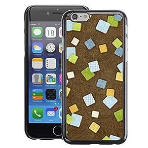 A-type Arte & diseño plástico duro Fundas Cover Cubre Hard Case Cover para iPhone 6 (Abstract Checkered Tiles Brown Office)