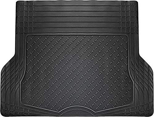 OxGord WeatherShield HD Rubber Trunk Cargo Liner Floor Mat, Trim-to-Fit for Car, SUV, Van, Trucks Black (Trunk Liner Wagon)
