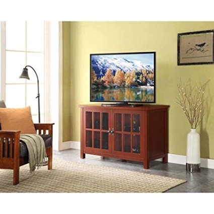 TV Console Stand Shelves Media Entertainment Furniture Stora