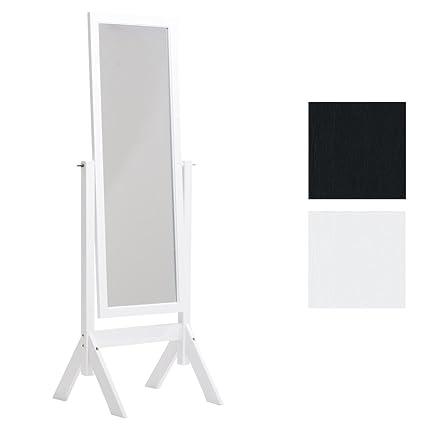 CLP Miroir sur Pied Elvis avec Cadre en Bois – Miroir sur Pied pour Chambre  – Design Rustique Miroir Inclinable avec Une Hauteur de 153 x 58 cm – ...