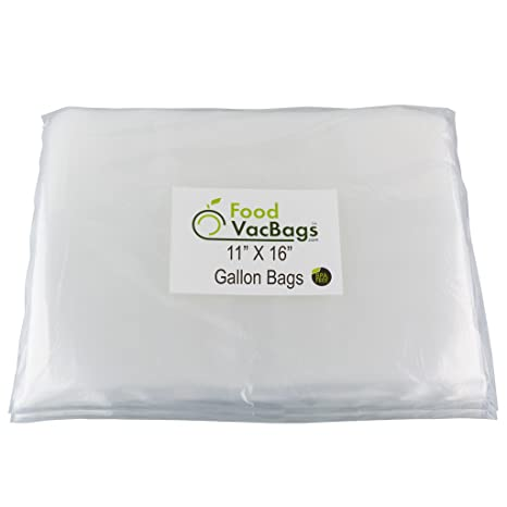 Amazon.com: 100 foodvacbags Galón Tamaño 11 x 16 Embossed ...